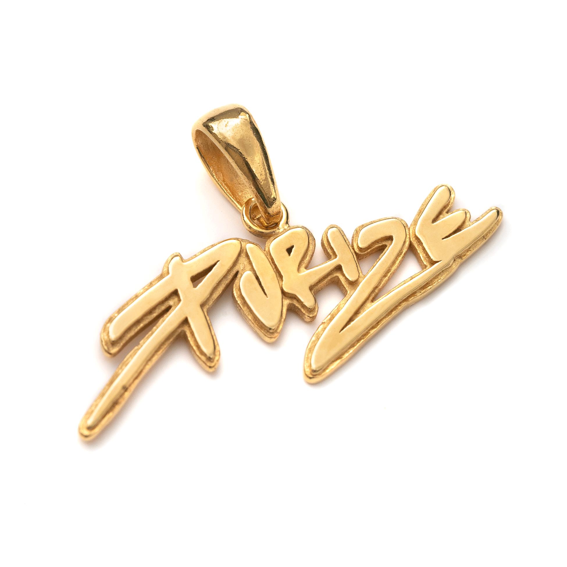 PURIZE® Kettenanhänger aus 925 Silber mit 24k Vergoldung (limited)