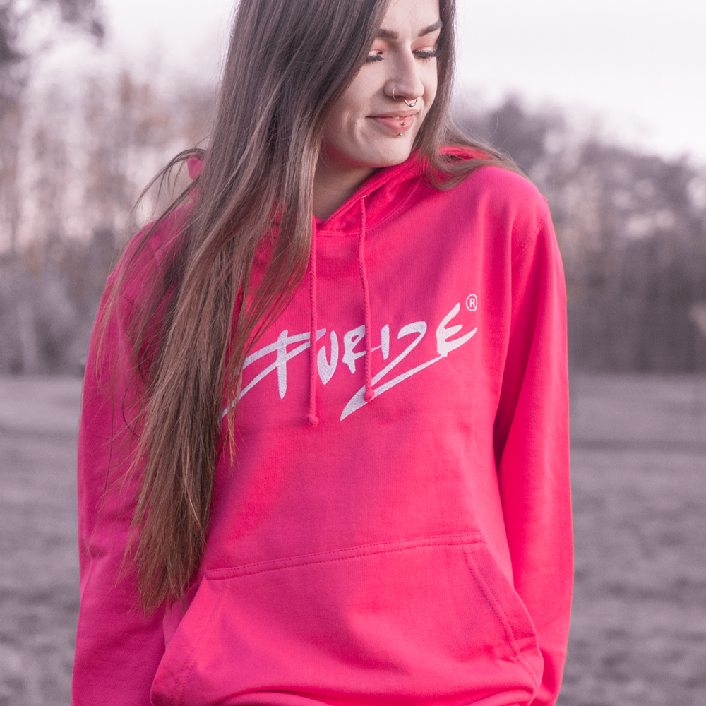 PURIZE® Hoodie I Pink (gestickt)