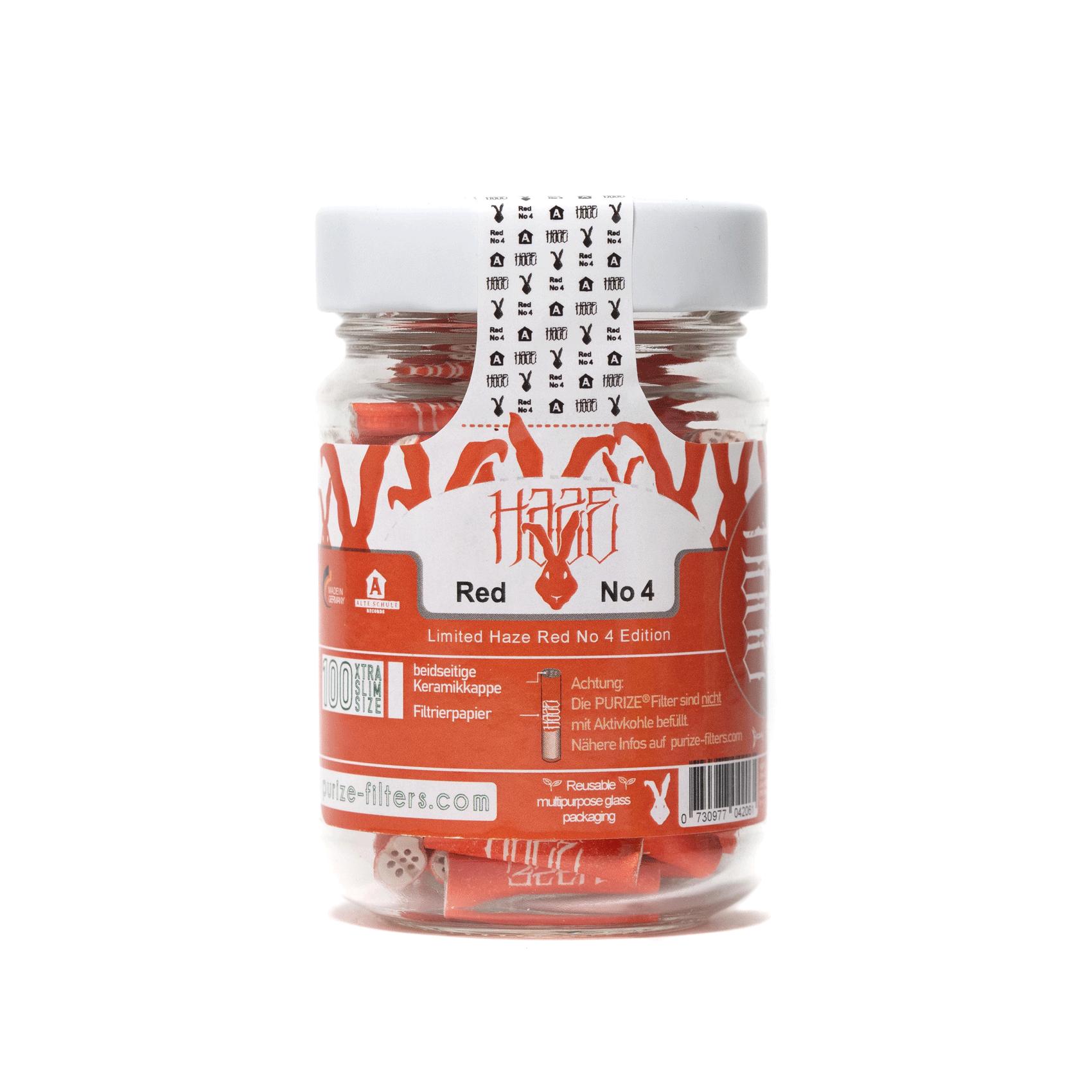 """HAZE® Glas | 100 XTRA Slim Size ohne Aktivkohle"