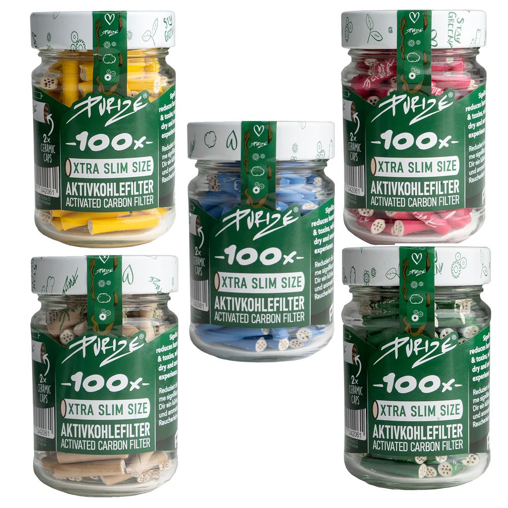 5 x PURIZE® Glas I 100 XTRA Slim Size